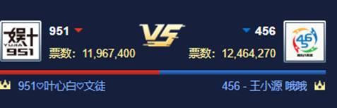 456大战951,2443万票获2连胜